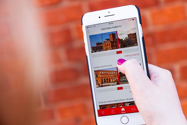 Kampania reklamowa aplikacji mobilnej Manufaktury z Łodzi